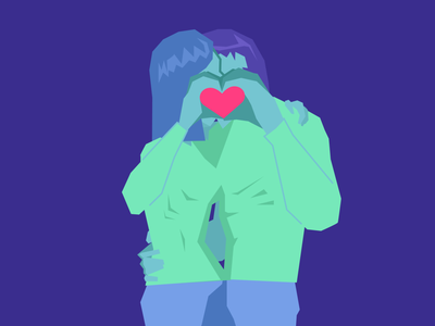 Lovers' privacy graphic design vector art vectorart illustration vector limted color palette love