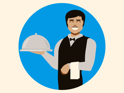 What would you like today? graphic design vector vector illustration vectorart french waiter restaurant restaurant menu