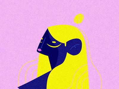 YLLW illustrator doodle adobe pink power girlpower designer art wacom illustration