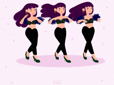 Selena Quintanilla pink girlpower music quintanilla quintanilla selena designer wacom illustrator vector girl illustration