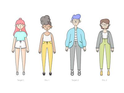 Diseño de personajes Tijiko lifestyle character design wacom illustration