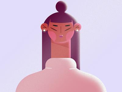 le femme pictoplasma photoshop sketch lights adobe shadow pink girl girlpower doodle illustrator wacom illustration