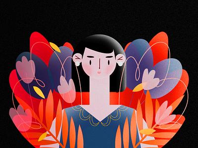 C O L O R branding logo art power adobe wacom vector illustrator illustration girl