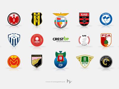 Crestup derby county porto palermo monarcas ajax monterrey guingamp benfica frankfurt soccer football logos