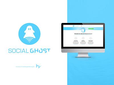 Social Ghost screendesign corporate identity branding logo