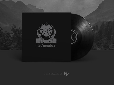 tru'nembra black metal vinyl art logo