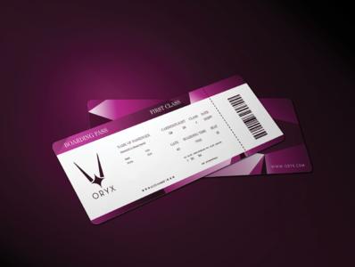 Oryx -flight ticket