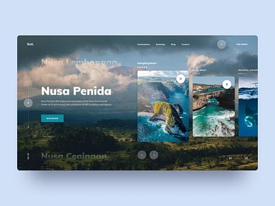 Nusa Penida Design Concept rebound bali nusapenida ui typography concept figma design conceptpage