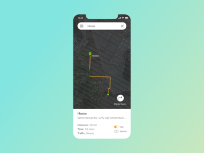 DailyUI Challenge | Location Tracker | 020
