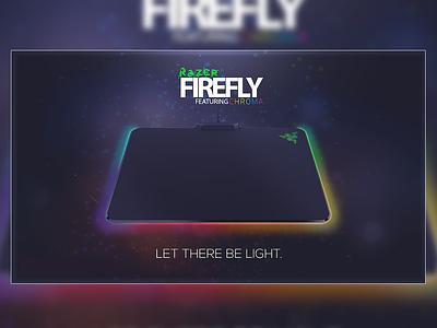 Razer Firefly Advert gaming mouse mat mouse pad razer poster marketing graphics advert concept branding photoshop design