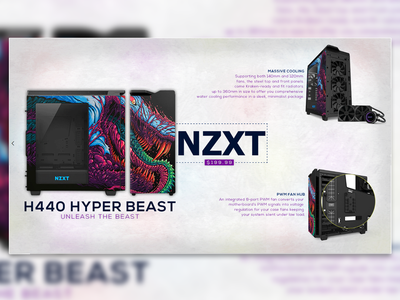Nzxt Hyper Beast Case Advert pc case pc nzxt gaming poster marketing graphics advert concept branding photoshop design
