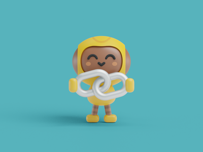 3D Robot Illustration render mockup crypto model technology blockchain nft 3d blender mascot cartoon funny character logo kids colorful color illustration robot cute