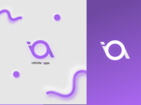 Design Infinite Apps youtube channel indentity mark vector branding gradiant design colors modern logo minimal