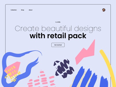 Home Page Retail Pack pack design pack product webdesign landingpage poppins minimal website design ui  ux web design web landing home page shapes