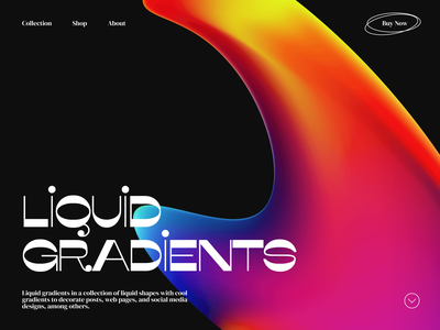 Liquid Gradients Web Design pack 3d gradient ux  ui uxui header design website design webdesign web design website header uidesign ux web