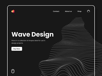 Waves Pack Design header homepage home uiux ui  ux wave dark minimal landing design landing page landingpage landing product pack webdesign website web web app web design web ui
