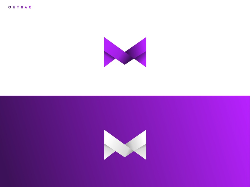 M Logo for Youtube colors icon debut youtube youtube channel design modern gradiant minimal logo