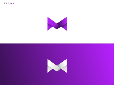 M Logo for Youtube colors icon debut youtube youtube channel design modern gradiant minimal logo