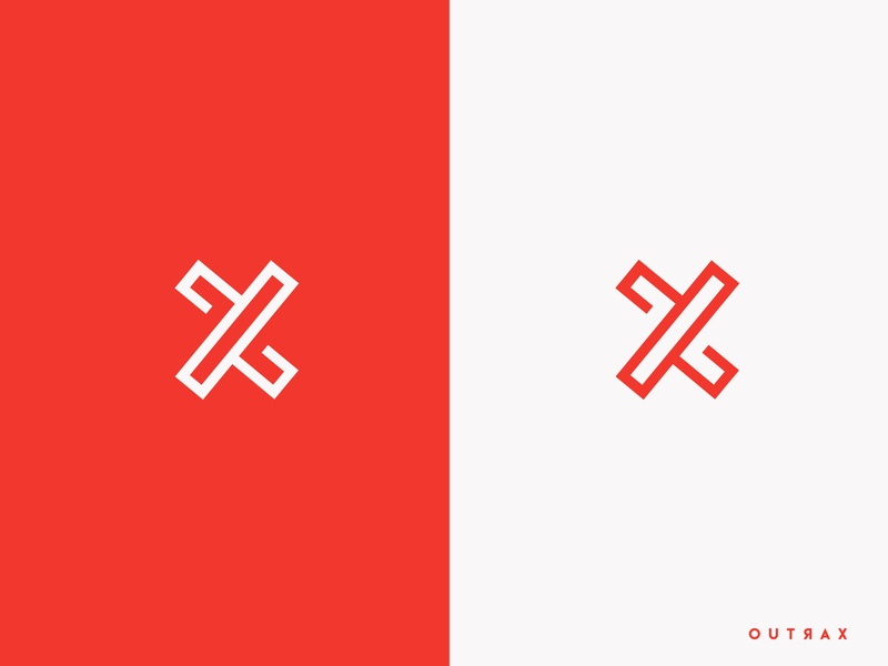 Logo X for Explox Tv modern youtube youtube channel minimal logo icon design colors