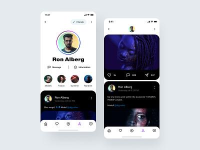 Social media feeds newsfeed post application app design social social media social network social app mobile app ui ux
