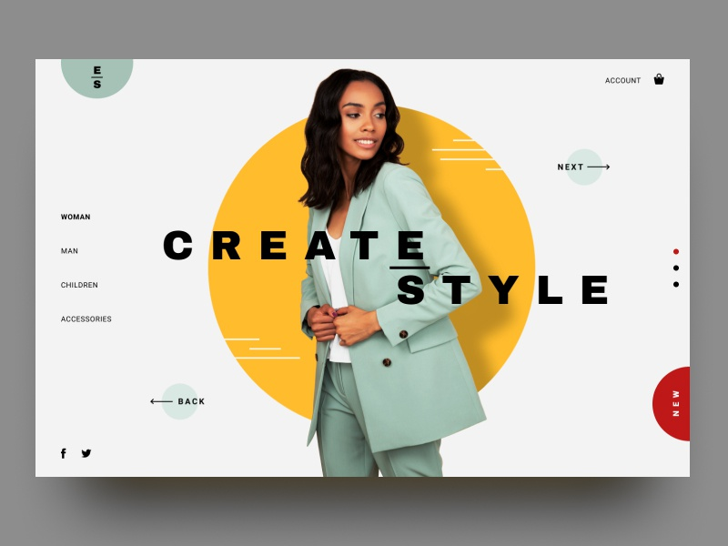 Clothing Store ux typography design woman suit ui uiuxdesign clothing brand store web
