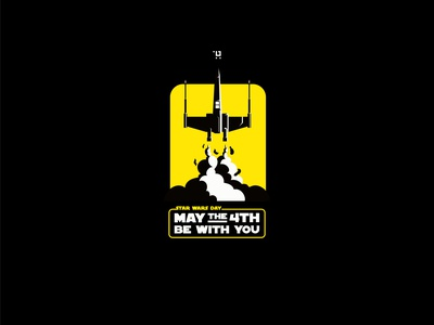 May the 4th be with you myanmar logodesign design vector logo design flat illustation art minmimal design illustration logo star wars starwars