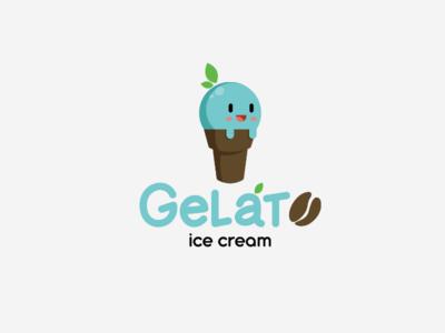Gelato ice cream logo logo branding