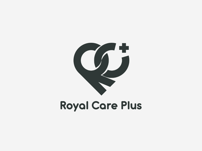Royal care plus branding logo