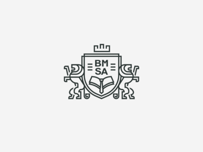 BMSA collage badge badge logo educational education brand identity branding logo