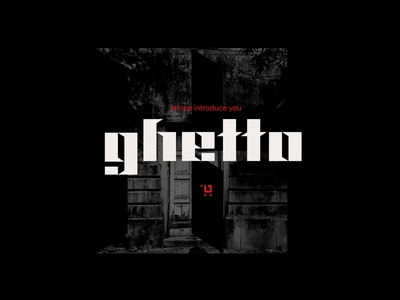 ghetto typeface design blackletter typeface font
