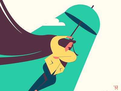 rainy day will be just fine design flat illustation minmimal design color art illustration
