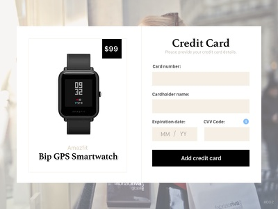 Daily UI: #002- Creditcard credit card daily ui checkout minimalist