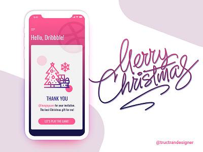 First shot app christmas thanks debut iphonex frist shot dribbble hello