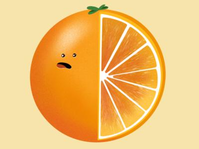 Oh no galshir procreate illustration orange
