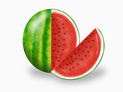 Juicy summer healthy modern summer illustration procreate
