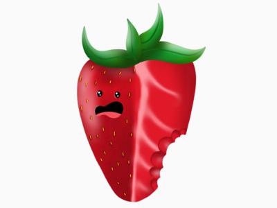 I'm going to eat you up. fruits procreate illustration