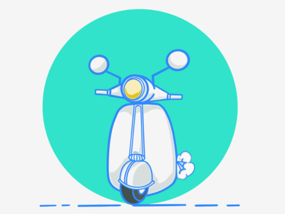 Scooter illustration flat scooter art