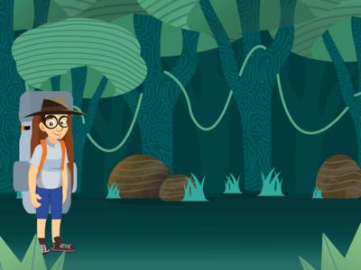 Jungle illustration vector colours design illustration