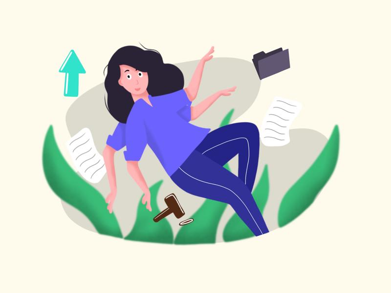 Business women procreate artwork design business women sales business women illustration