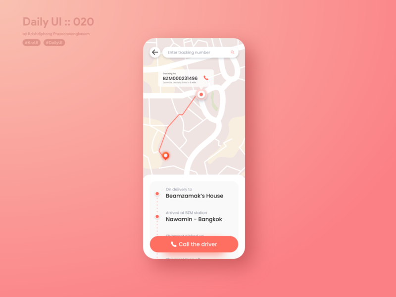 Location Tracker #dailyui #020