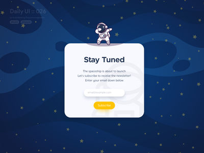 Subscribe #dailyui #026 subscription box subscriptions subscription subscribe ui design designs spaceman space blue yellow illustration typography white vector application app ui design userinterface dailyui