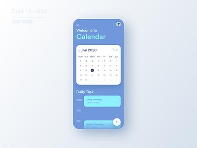 Calendar #dailyui #038 daily task daily ui daily todo list todo app todoist todo calendar design calendar app calendar ui calendar application app ui design userinterface dailyui