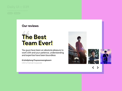 Testimonial #dailyui #039 daily ui 039 webdesign website design web design review testimonials testimonial website ui design userinterface dailyui