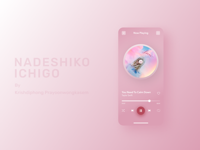 Music player in Pink player ui player music music player song lover now playing glassmorphism pink ui pink taylor swift minimal clean ui clean design application app ui design userinterface