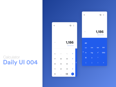 Calculator app for Daily UI #dailyui #004