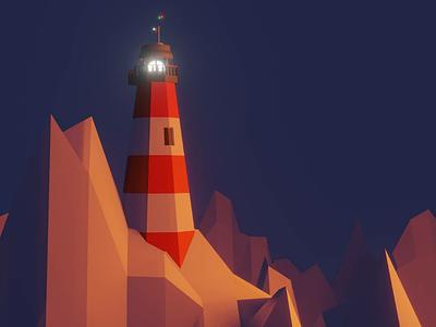 Light House 3D lowpoly vector3d blender illustration 3d