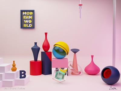 Lowpoly Shapes blender3d lowpoly3d 3d art branding dimension 3d vector design illustration