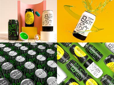 ELANEER Coconut Water logo adobe dimension typography 3d art branding dimension 3d vector design illustration