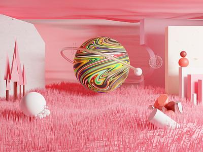 Warp Space blendercycles blender dimension 3d art 3d design illustration