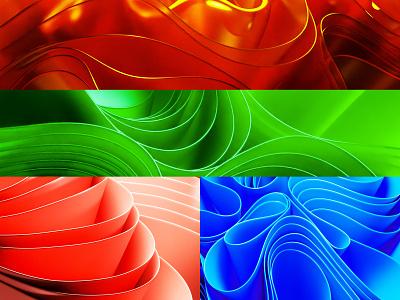 Windows 11 Wall Paper 3dvisualision color wave trending render blemder 3dart vector design branding dimension 3d illustration blender